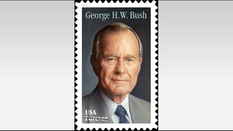 USPS honors former President George H.W. Bush with forever stamp