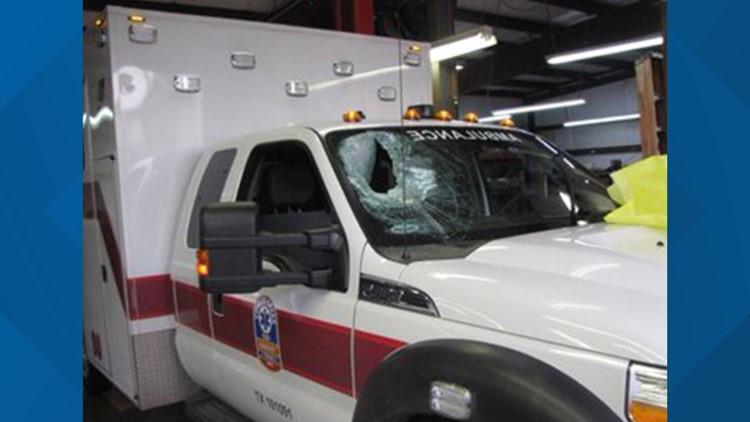 Brick in ambulance 2