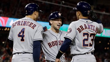 Astros explode for eight runs in Game 4 win over Nationals