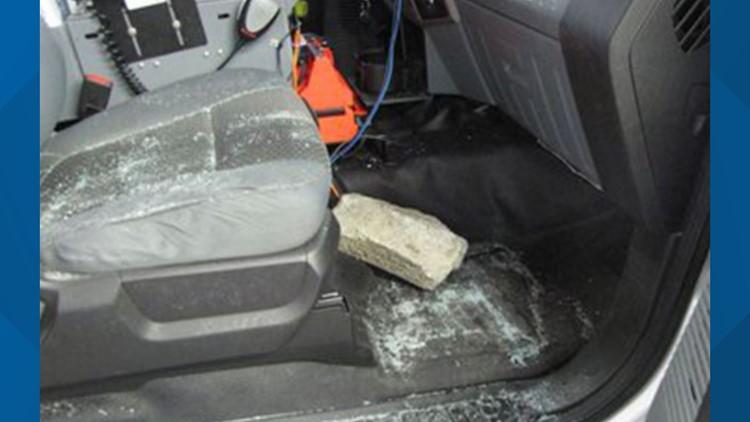 Brick in ambulance 3