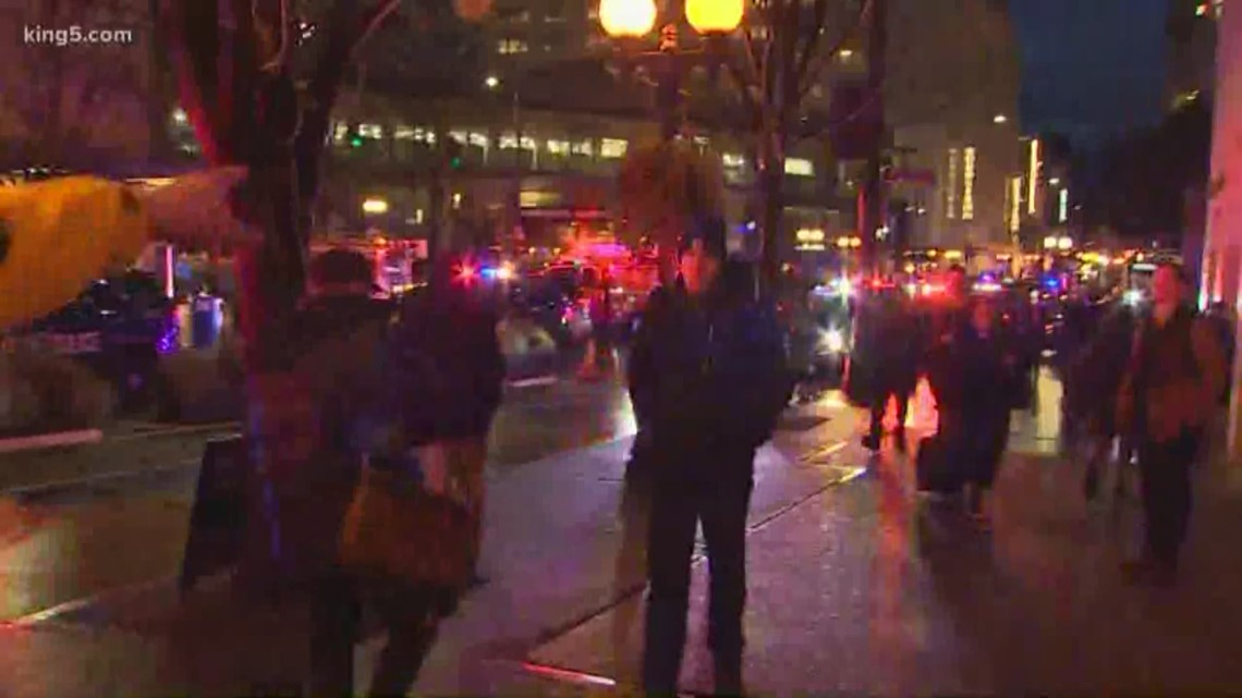 Multiple people hurt in downtown Seattle shooting, police searching for suspect