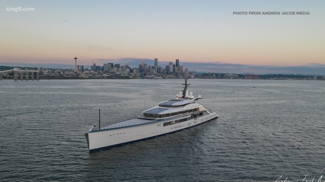 Mega yacht spotted in Seattle belongs to Dallas Cowboys owner Jerry Jones