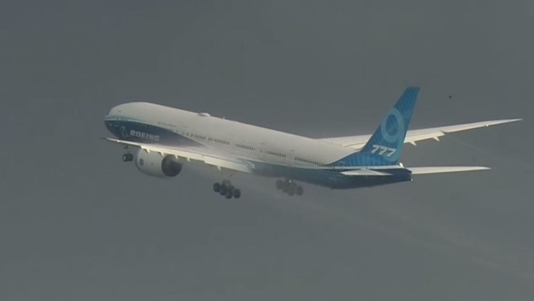 Boeing's new 777X jet takes its first flight in Washington state