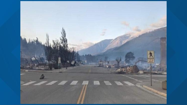 Wildfire devastates British Columbia village that hit 121 degrees
