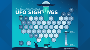 Hunting for UFOs? Don't go to Texas, report says