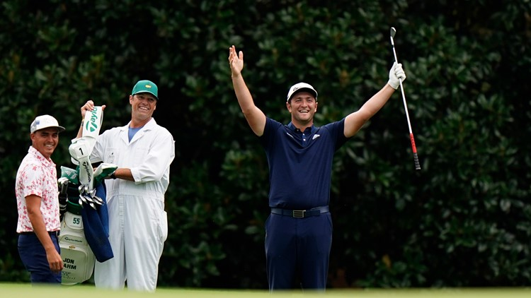 Watch this incredible hole-in-one from Jon Rahm at a Masters practice round