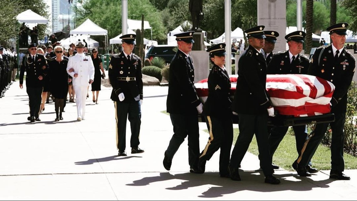 106-year-old John McCain's mother, Roberta, attends son's burial services