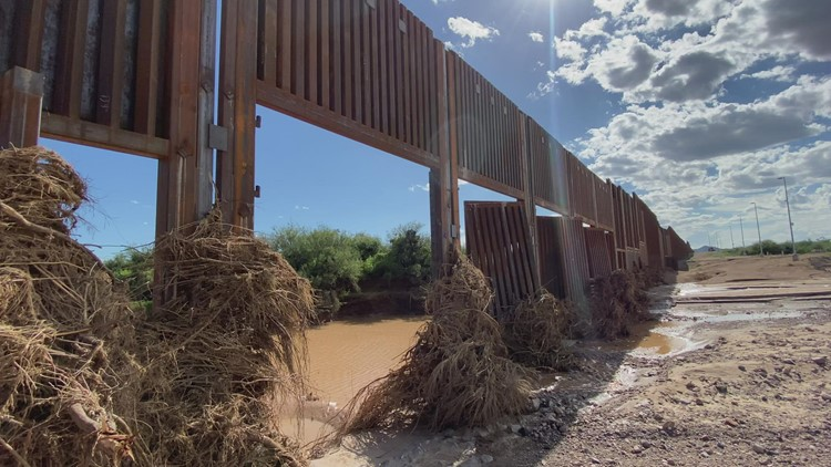 9 steel gates of Arizona's border wall ripped off by monsoon storms, 5 completely missing