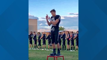 High school football player signs national anthem at home game, inspires millions