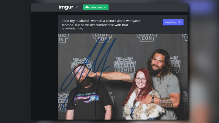 This fan's Denver Comic Con photo with Jason Momoa might be the best thing you'll see today