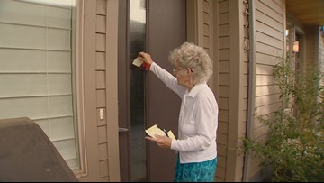 How a woman whose house is surrounded by new development is using sticky notes to be a good neighbor