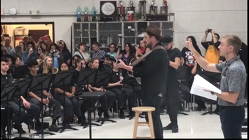 ACL headliner Mumford & Sons rehearses with Austin high school band before festival set