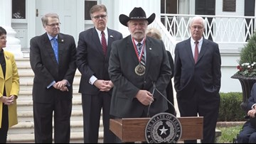 Man who 'took out' Texas church shooter receives Governor's Medal of Courage in Austin