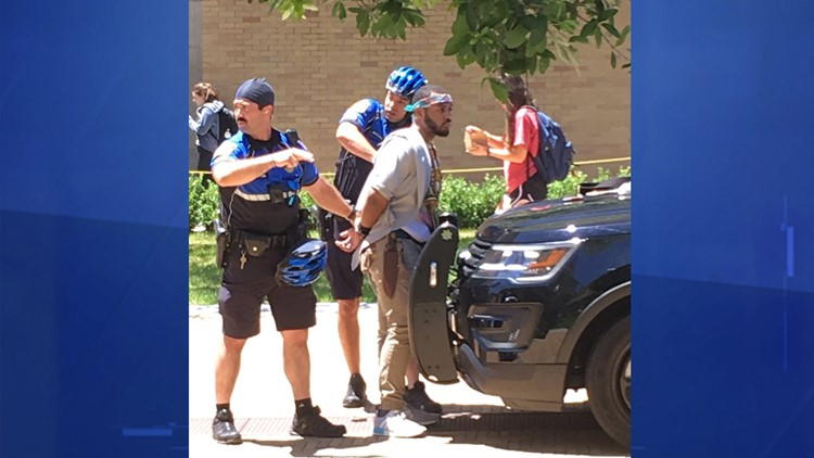 Witnesses tell KVUE this is the suspect in the UT stabbing that killed one person Monday.