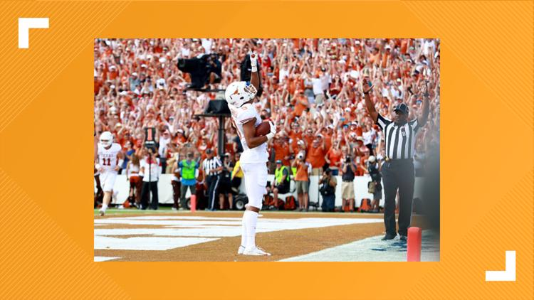 RECAP: No.19 Texas wins 48-45 over No. 7 Oklahoma after taking lead with nine seconds left
