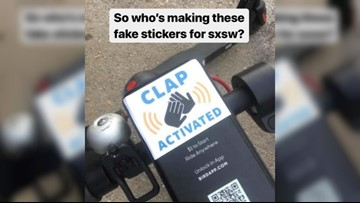 Someone is trolling SXSW scooter users with these stickers