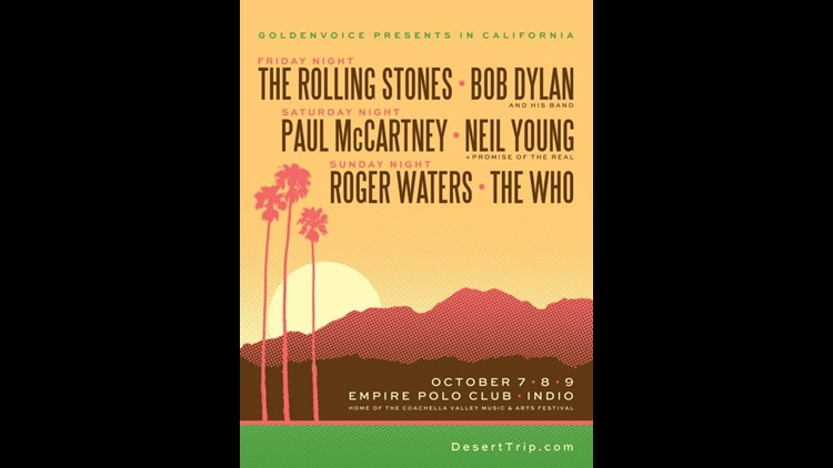 Six of some of the most iconic rock legends head to the desert for three-day concert.