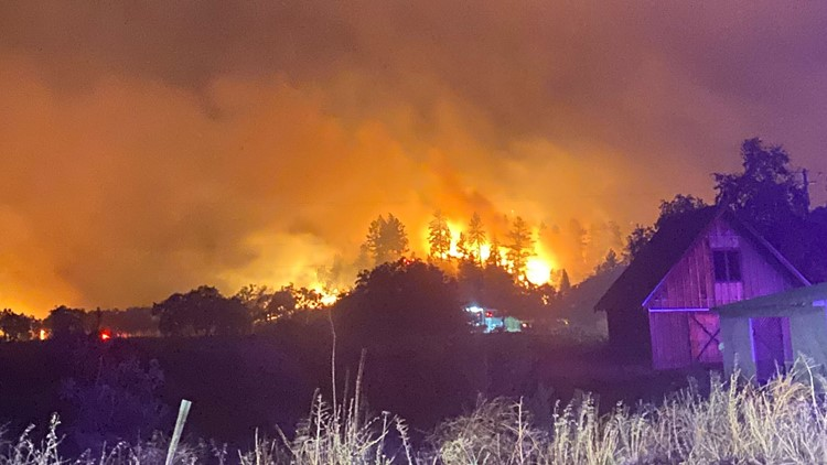 Evacuations underway in Napa, Sonoma counties due to 2,500 acre Glass Fire