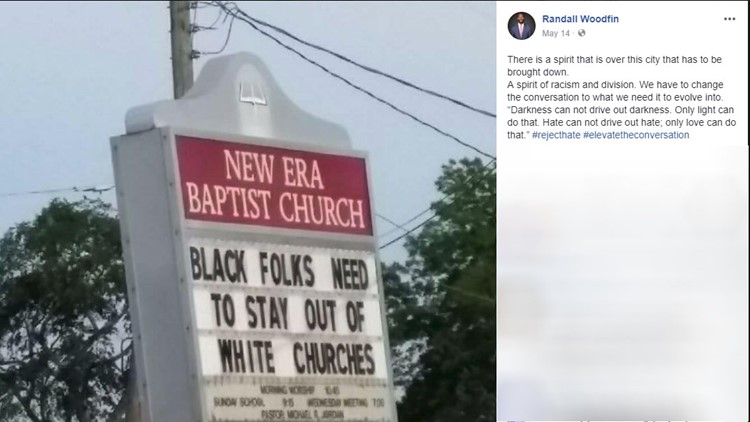 Church Sign Tells Black People To 'stay Out Of White Churches Mesmerizing Church Sign Quotes