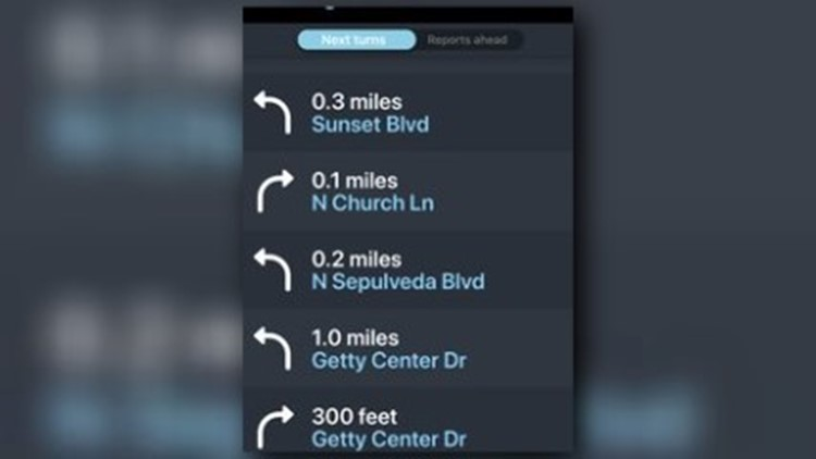 Wfaa waze sent commuters toward california wildfires drivers say wazes directions to the getty center on thursday morningnbspphoto waze publicscrutiny Images