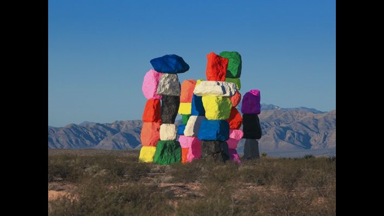 <p>A fluorescent Stonehenge has found a home outside of Las Vegas.</p>
