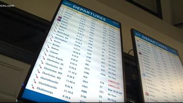 Dozens of Charlotte flights canceled by Hurricane Florence