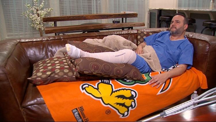 Carlos Chapa, Jr., injured after a shooting at a Dave & Buster's