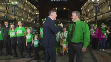 Party on the plaza like the Irish