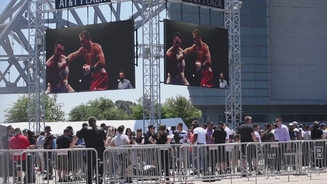 City officials worry over large gathering, as fans crowd AT&T Stadium ahead of Canelo Alvarez vs. Billy Joe Saunders fight