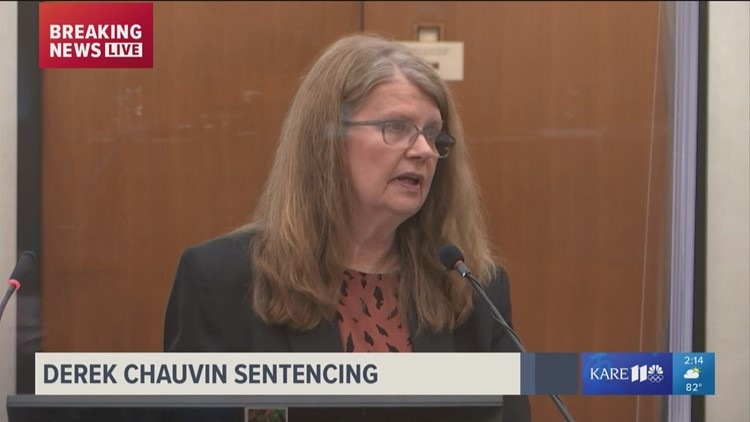 Derek Chauvin's mother says he's innocent during his sentencing for the murder of George Floyd