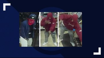 Dallas police searching for  7-Eleven robbery suspects