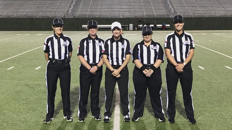 'We are breaking barriers': All-female officiating crew makes history at six-man all-star game