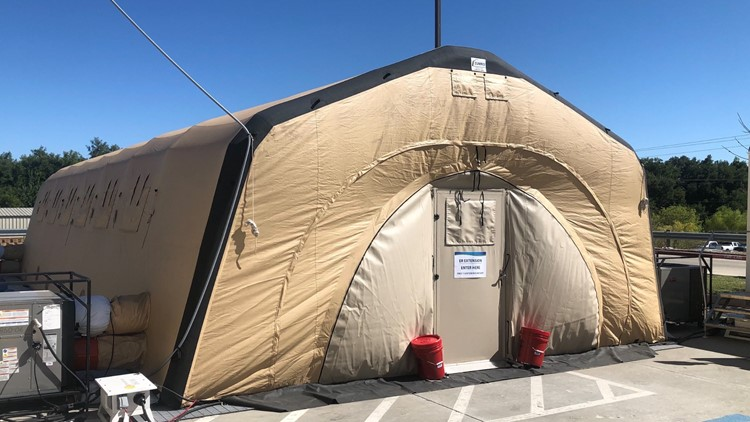 COVID updates: Tents set up as Wise Co. hospital reaches 105% capacity
