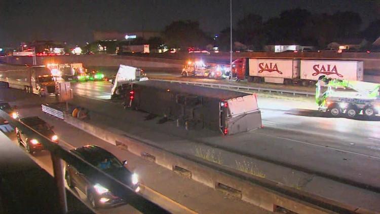 I-30 back open after fatal crash involving motorcycle and 18-wheeler