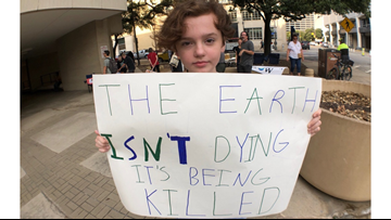 Young protesters speak out at Fort Worth climate strike