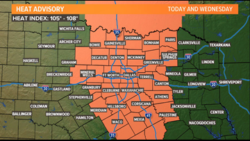 Heat Advisory is in effect Tuesday and Wednesday