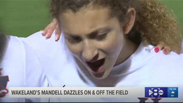 Wakeland's Mandell dazzles on field and off