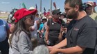 Protestors clashed in El Paso while Trump visited with victims, first responders