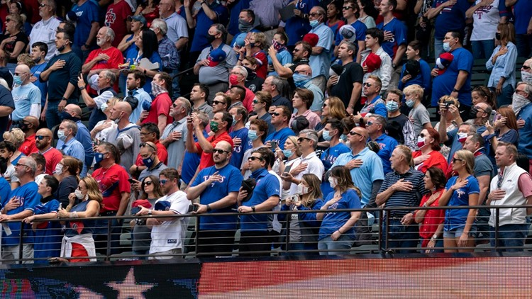 Masks now only recommended at Texas Rangers games
