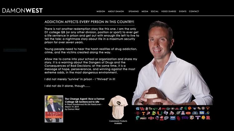Damon West website