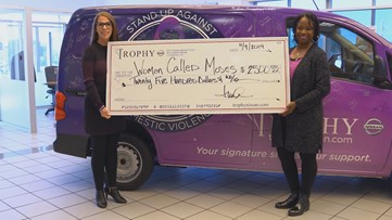 Dealership provides month worth of shelter for domestic violence victims with donation