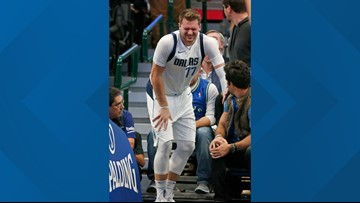Mavs star Luka Doncic won't return vs Heat after injuring ankle