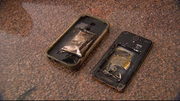 'Never thought this would happen to me,' says Plano pro basketball player after LG phone explodes in his hand