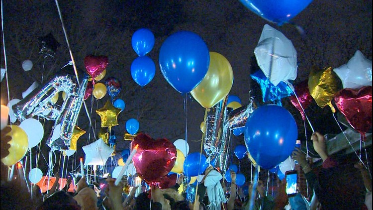 A vigil was held Sunday night in remembrance of Marc Strickland