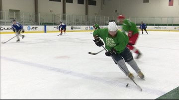 'Just being here, they understand': Dallas veterans find purpose through hockey