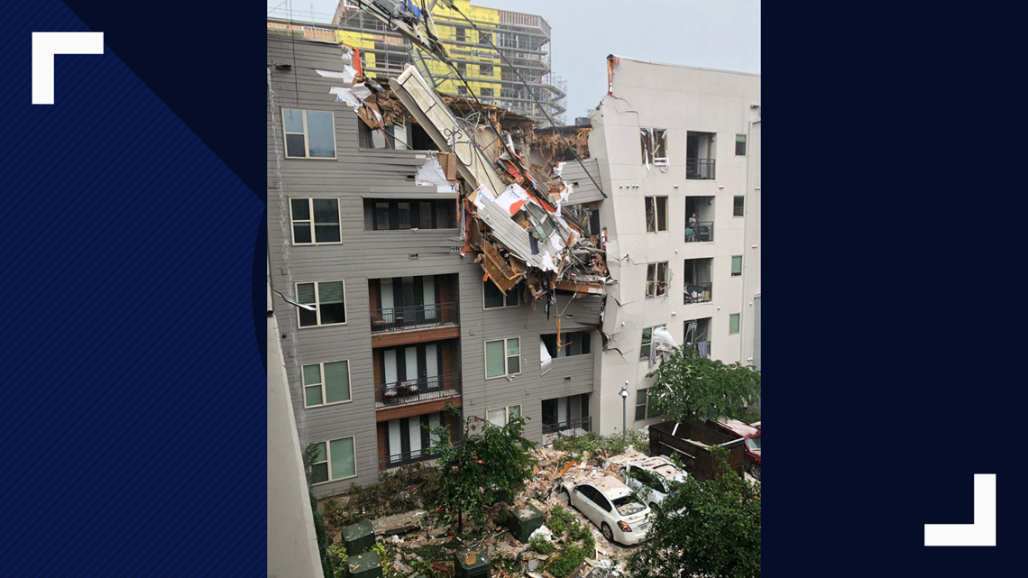 Woman killed after crane collapsed into Dallas apartment during