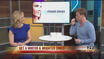 Whiten your teeth with Power Swabs