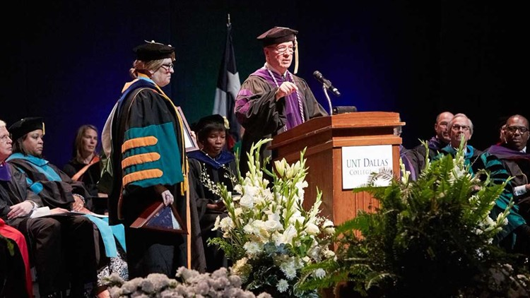 John VanBuskirk at the UNT Dallas College of Law graduation in January. Photo credit: ©Scott Peek Photography, LLC