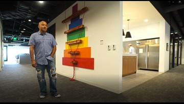 Art to inspire employees and to let a veteran heal