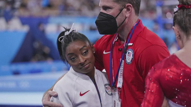 Simone Biles withdraws from all-around gymnastics competition at Tokyo Olympics to prioritize mental health